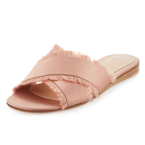 Gianvitto Rossi Shoes - New Gianvitto Rossi Barth Slides Dusty Pink SZ 38